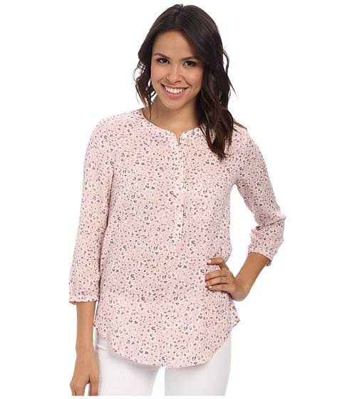 NYDJ - 3/4 Sleeve Pleat Back (Prairie Flower) Women's Blouse