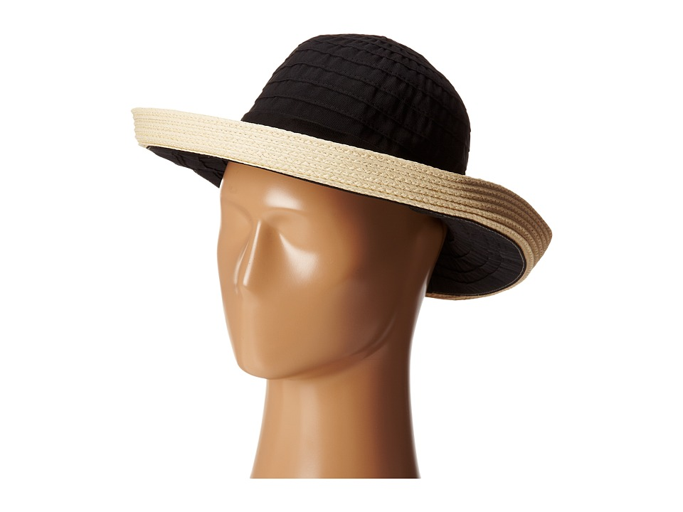 San Diego Hat Company - RBM5554 Ribbon Kettle Brim (Black) Caps