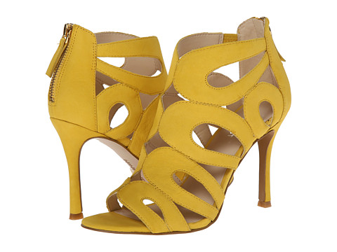 Nine West - Flora (Yellow Nubuck) High Heels