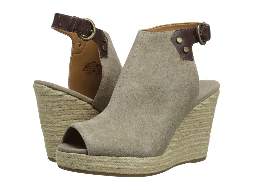 Nine West - Followme (Taupe/Dark Brown Suede) Women's Wedge Shoes