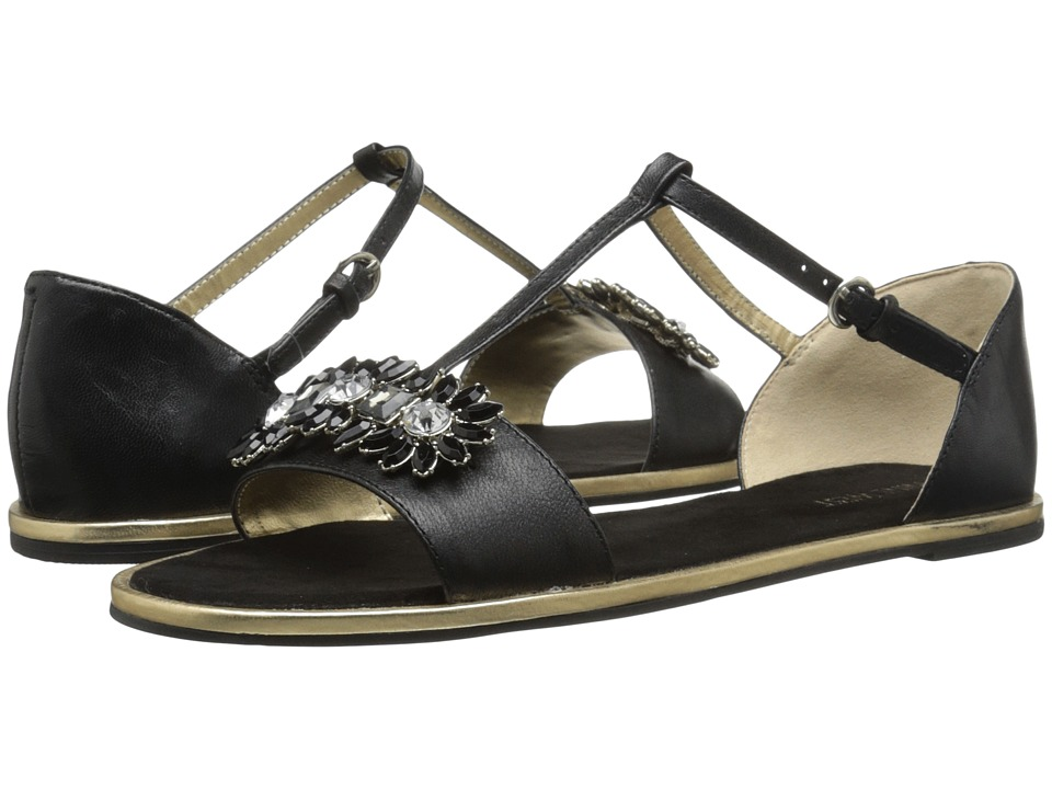 Nine West - Kurtancall (Black Leather) Women's Sandals