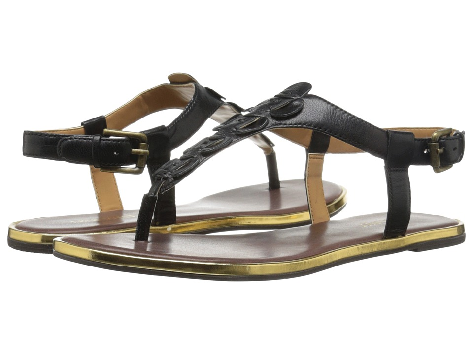 Nine West - Kickback (Black Leather) Women's Sandals