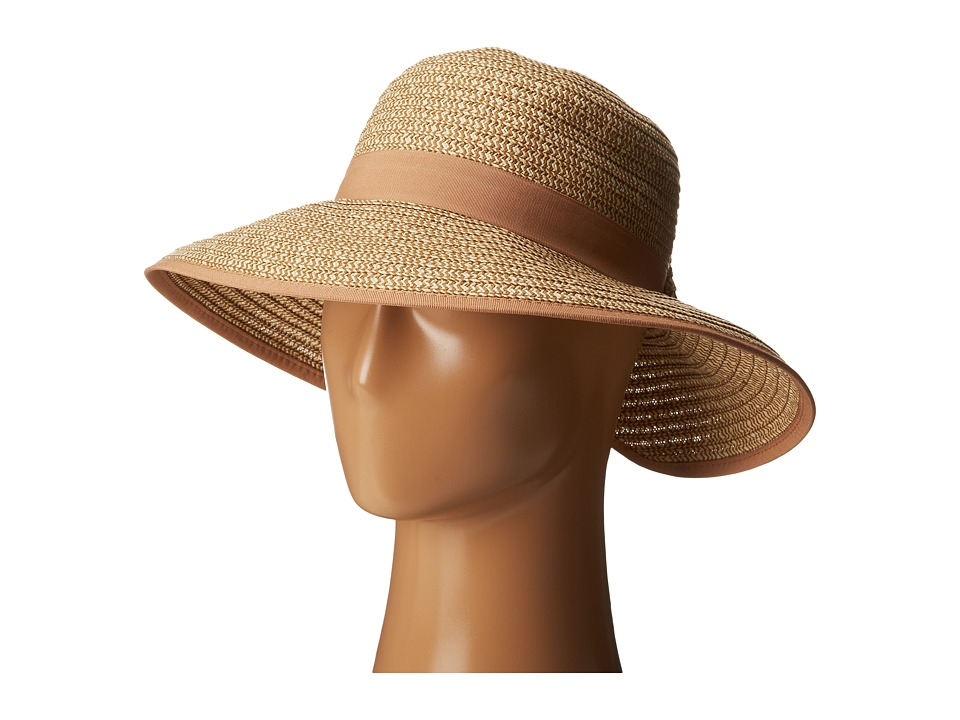 San Diego Hat Company - PBM1026 Sunbrim w/ Back Bow and Contrast Edging (Camel) Caps