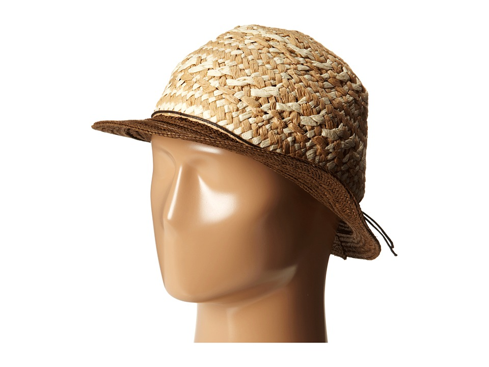 San Diego Hat Company - PBF6168 Woven Paper Panama w/ Contrast Brim (Brown) Caps