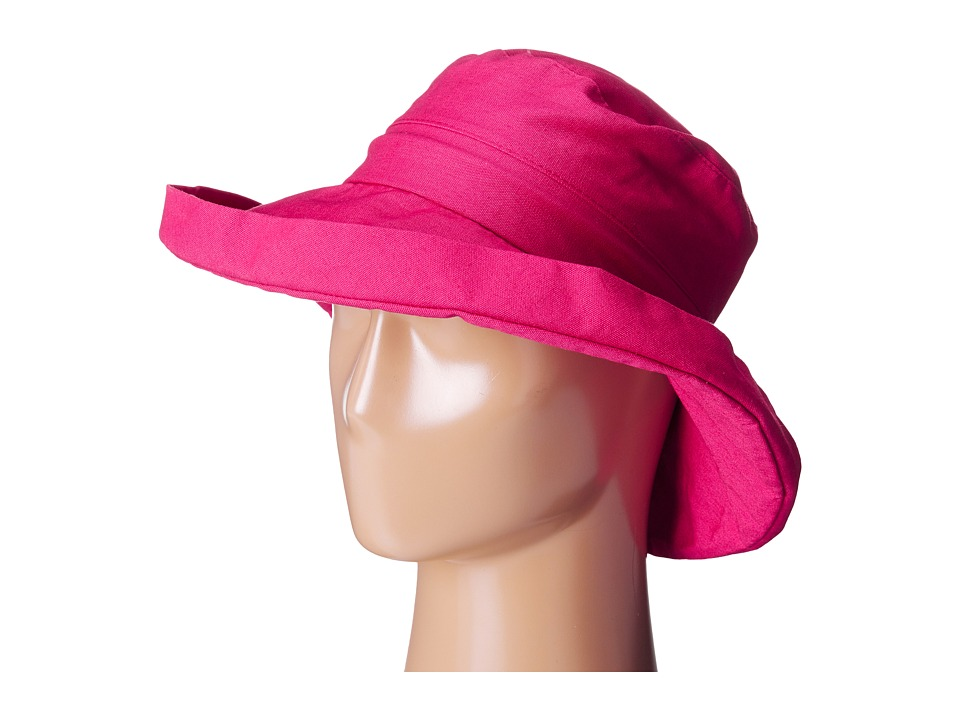 San Diego Hat Company - CTH4077 Linen Fabric w/ Kettle Brim (Hot Pink) Caps