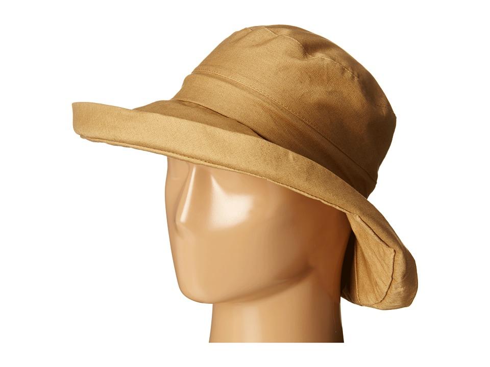San Diego Hat Company - CTH4077 Linen Fabric w/ Kettle Brim (Tan) Caps