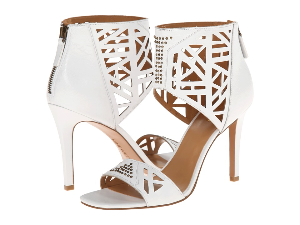 Nine West - Karabee (White Leather) High Heels