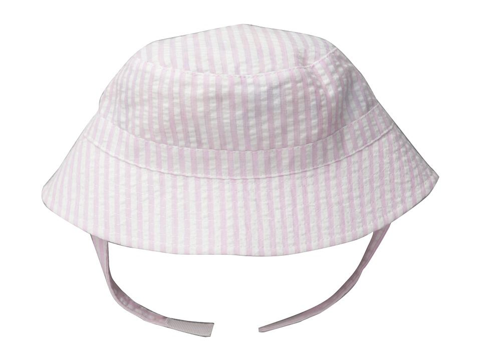 San Diego Hat Company Kids - CTK3458 Gingham Bucket w/ Chin Strap (Little Kids) (Light Pink) Bucket Caps