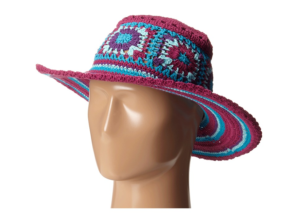 San Diego Hat Company Kids - DL2488 Crochet Macramae Hat w/ Stripe Pattern (Multi) Caps