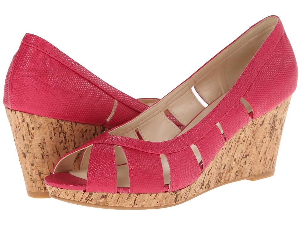 Nine West - Jumbalia (Pink Reptile) Women's Wedge Shoes