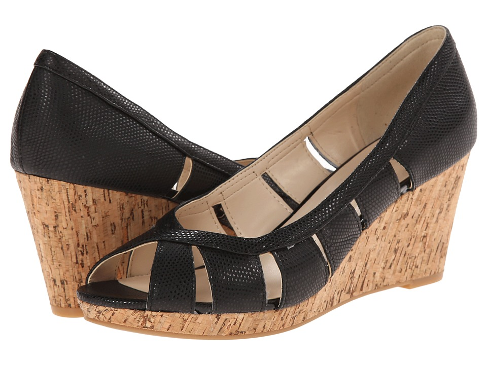 Nine West - Jumbalia (Black Reptile) Women's Wedge Shoes