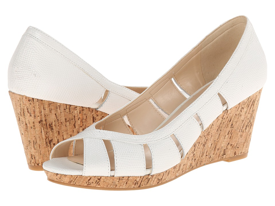 Nine West - Jumbalia (White Reptile) Women's Wedge Shoes