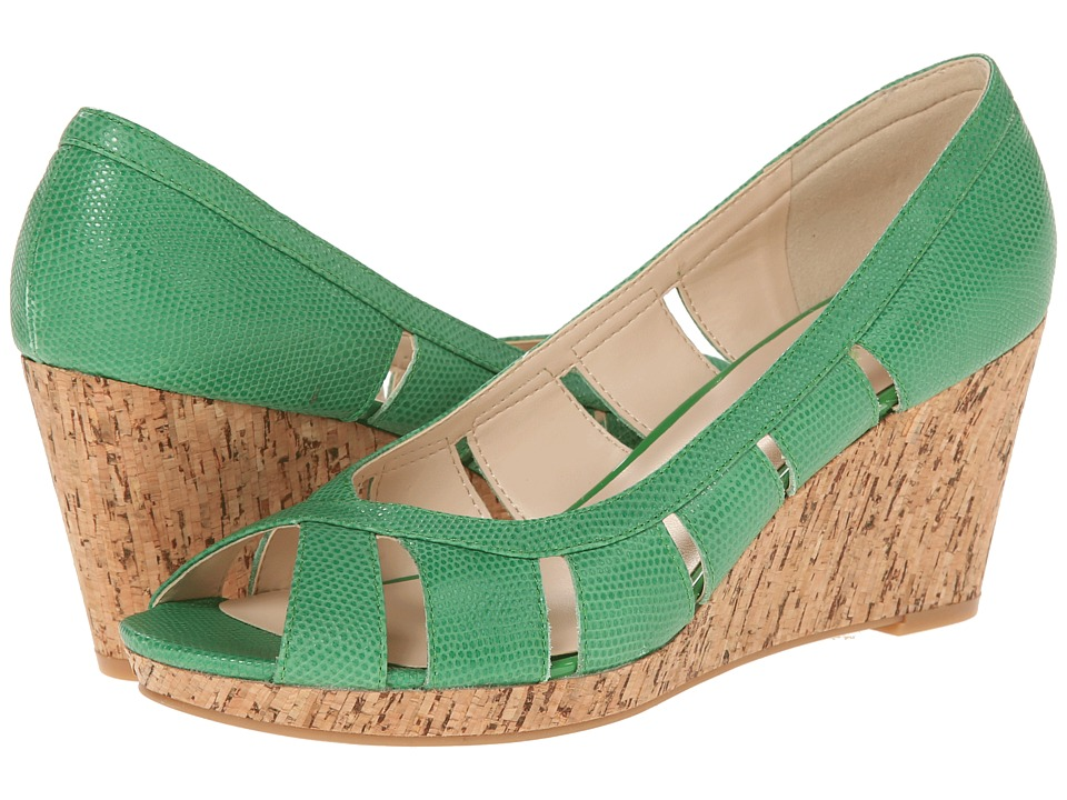 Nine West - Jumbalia (Green Reptile) Women's Wedge Shoes