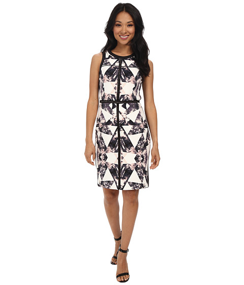 Vince Camuto - Sleeveless Sheath w/ Banding (Print) Women's Dress