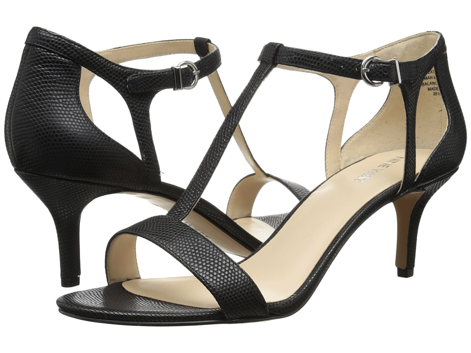 Nine West - Grand (Black Leather) High Heels