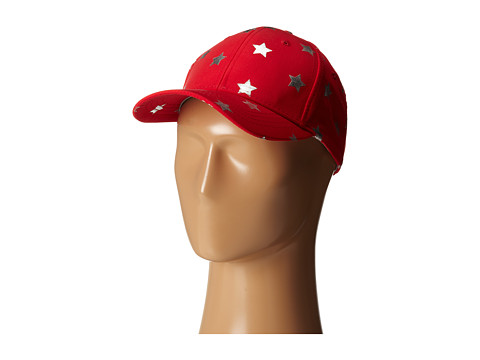 San Diego Hat Company - CTH4081 Silver Foil Star Ball Cap w/ Leather Back (Cayenne) Caps