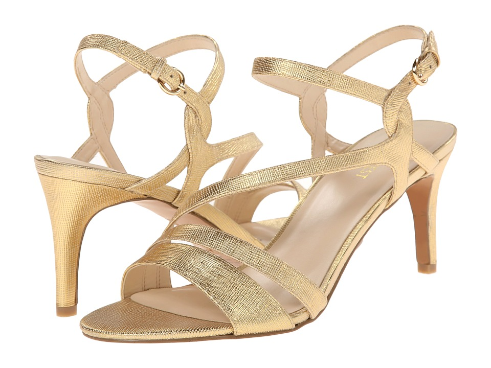 Nine West - Jarring (Gold Metallic) Women's 1-2 inch heel Shoes