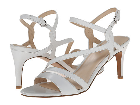 Nine West - Jarring (White/White Leather) Women's 1-2 inch heel Shoes