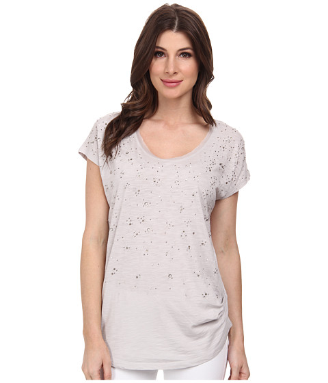 DKNY Jeans - Embellished Tunic Top (Dove) Women's Blouse