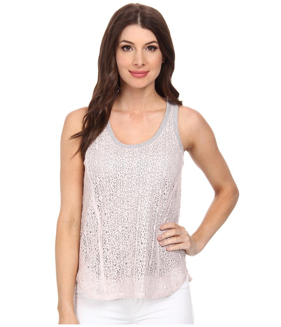 DKNY Jeans - Foil Lace Tank Top (Sugar) Women's Sleeveless