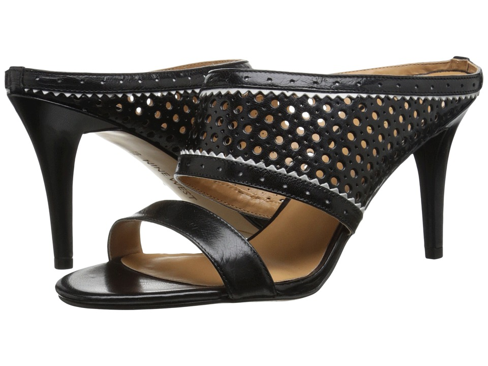 Nine West - Incident (Black/White Leather) High Heels