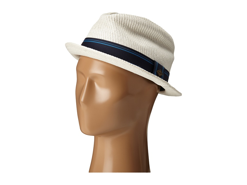 San Diego Hat Company - SDH2031 Fedora w/ Blue Stripe Ribbon Band (White) Fedora Hats