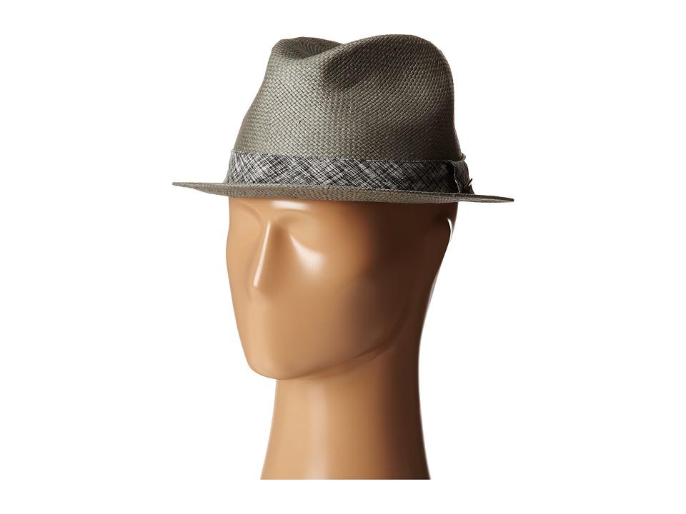 San Diego Hat Company - SDH2033 Paper Fedora w/ Printed Ribbon Band (Grey) Fedora Hats