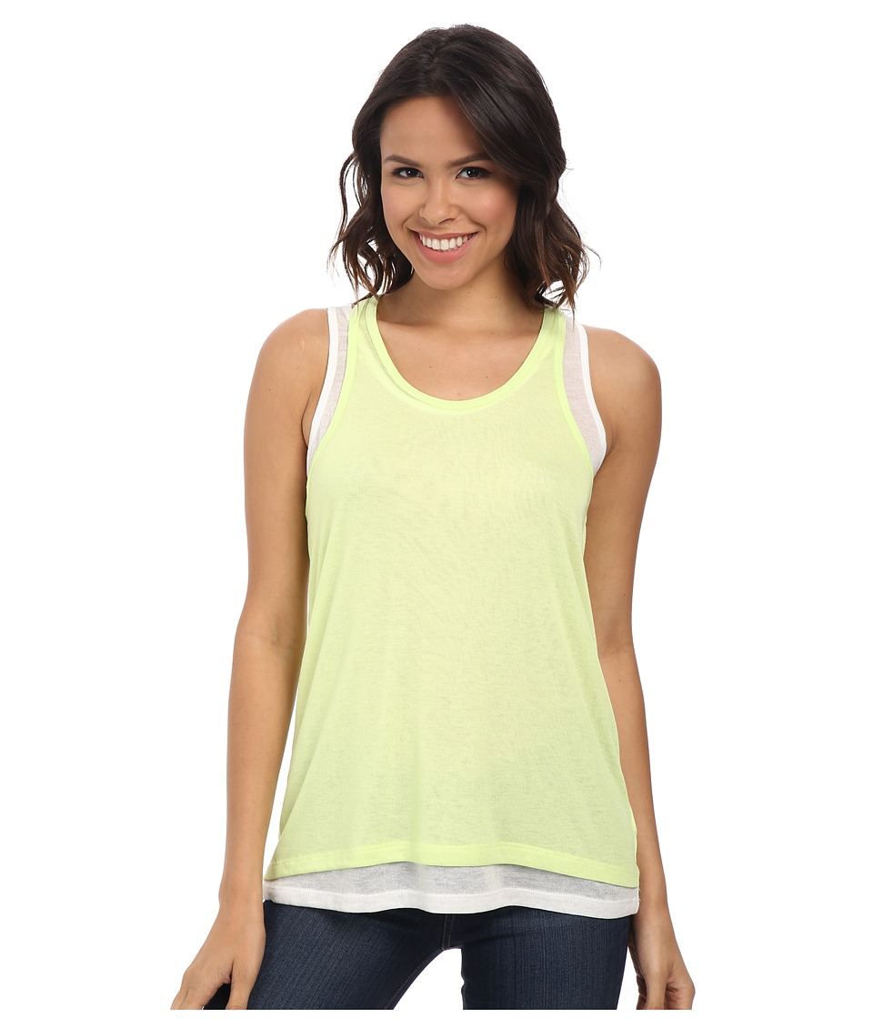DKNY Jeans - Double Layer Tank Top (Citron) Women