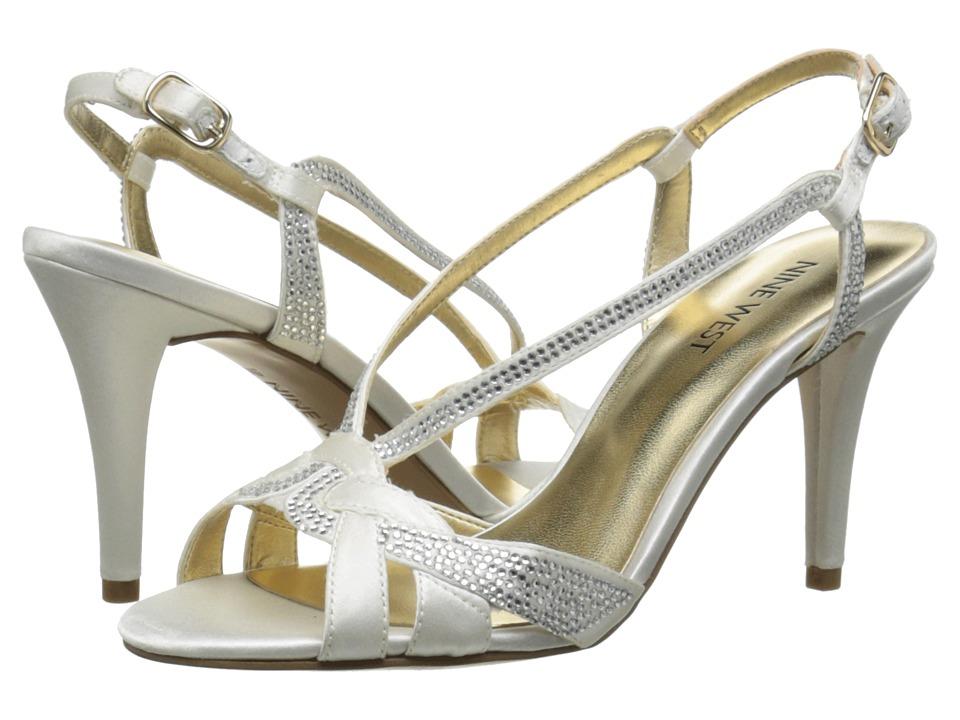 Nine West - Illiona (White Satin) High Heels