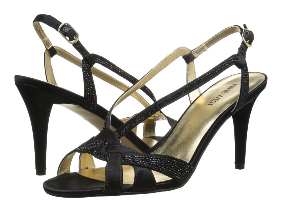 Nine West - Illiona (Black Satin) High Heels