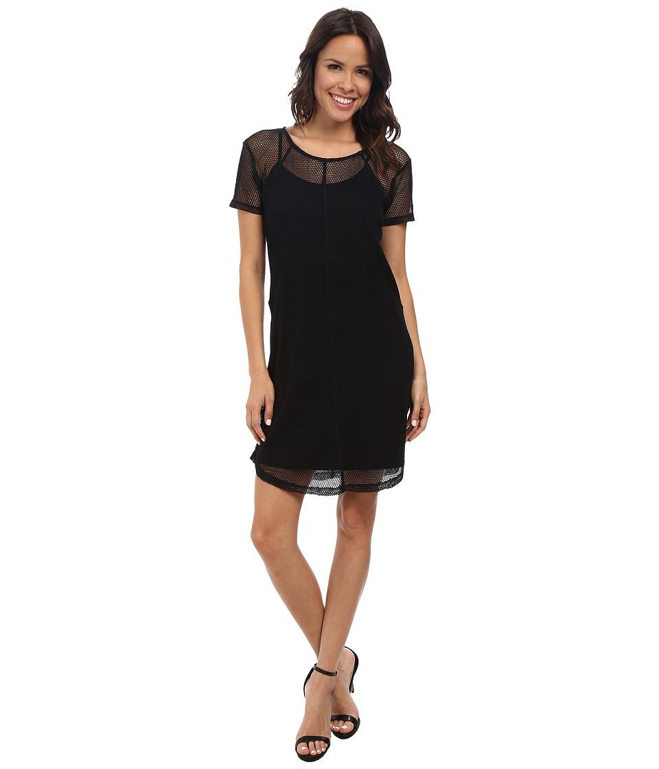 DKNY Jeans - Mesh Dress (Noir) Women