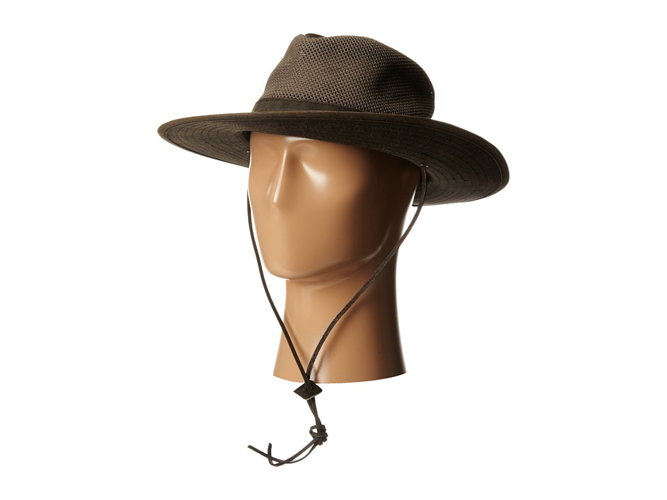 San Diego Hat Company - OCM4610 Outdoor Hat w/ Chin Cord and Vented Crown (Brown) Caps