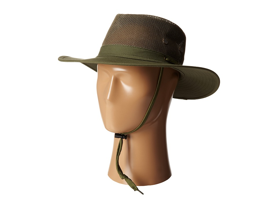 San Diego Hat Company - OCM4608 Outdoor Hat w/ Chin Cord and Vented Crown (Olive) Caps