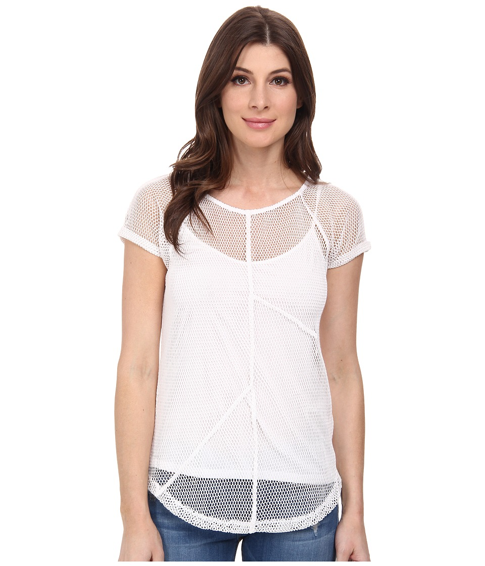 DKNY Jeans - Seamed Mesh Tee (White) Women