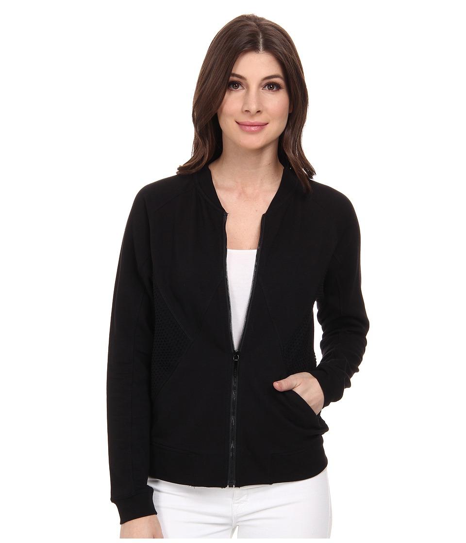 DKNY Jeans - Eyelet Pieced Bomber Jacket (Noir) Women