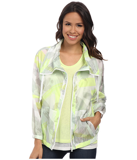 DKNY Jeans - Paint Splash Print Bomber Jacket (Citron) Women's Coat