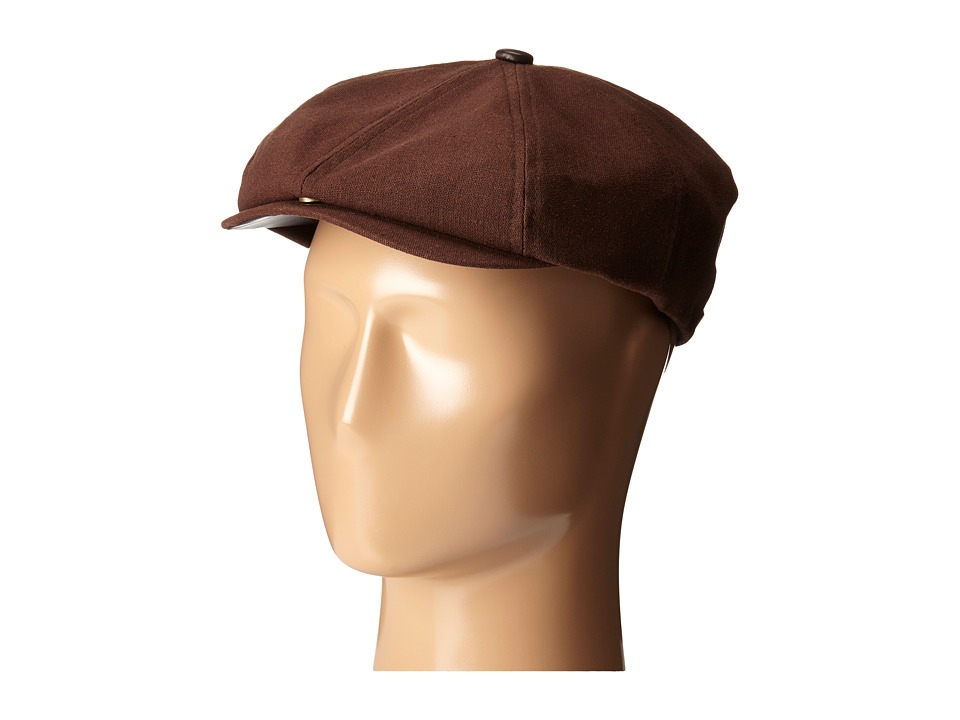San Diego Hat Company - SDH2023 6 Panel Driver w/ Top Button (Brown) Driving Hats