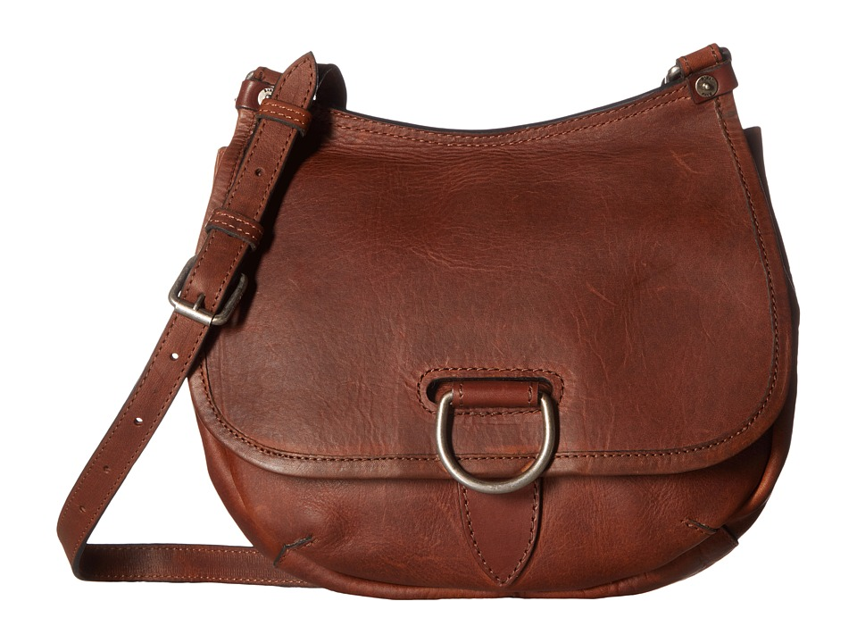 Frye - Amy Crossbody (Cognac Oiled Vintage Leather) Cross Body Handbags