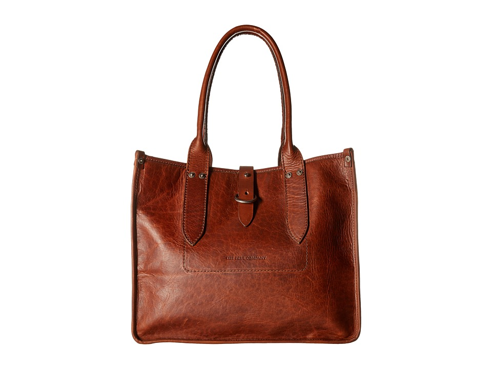 Frye - Amy Shopper (Cognac Oiled Vintage Leather) Tote Handbags