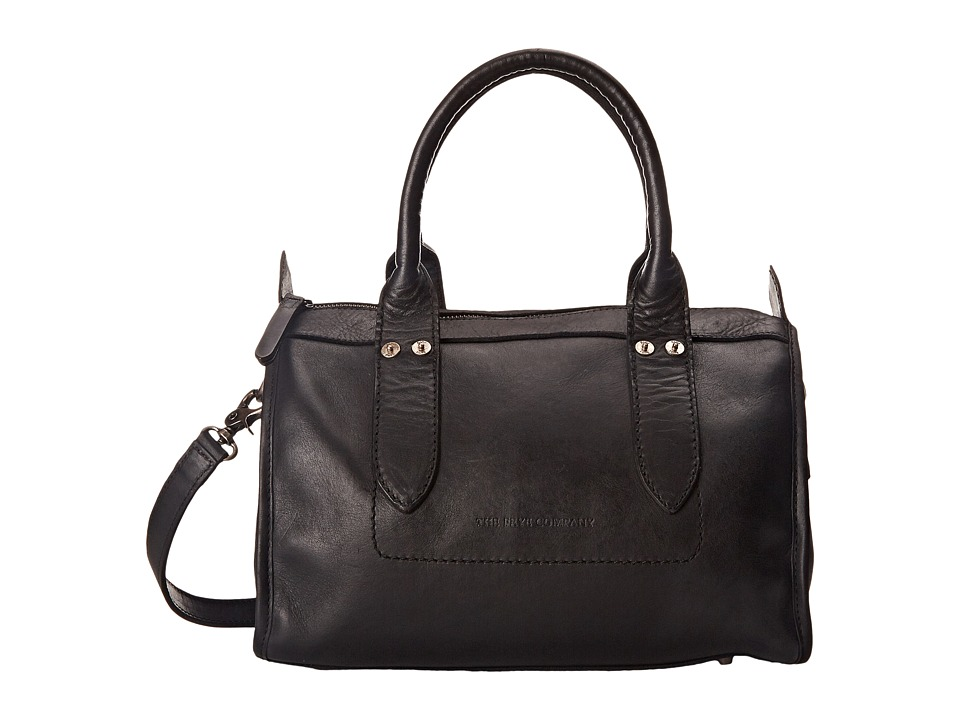 Frye - Amy Zip Satchel (Black Oiled Vintage Leather) Satchel Handbags