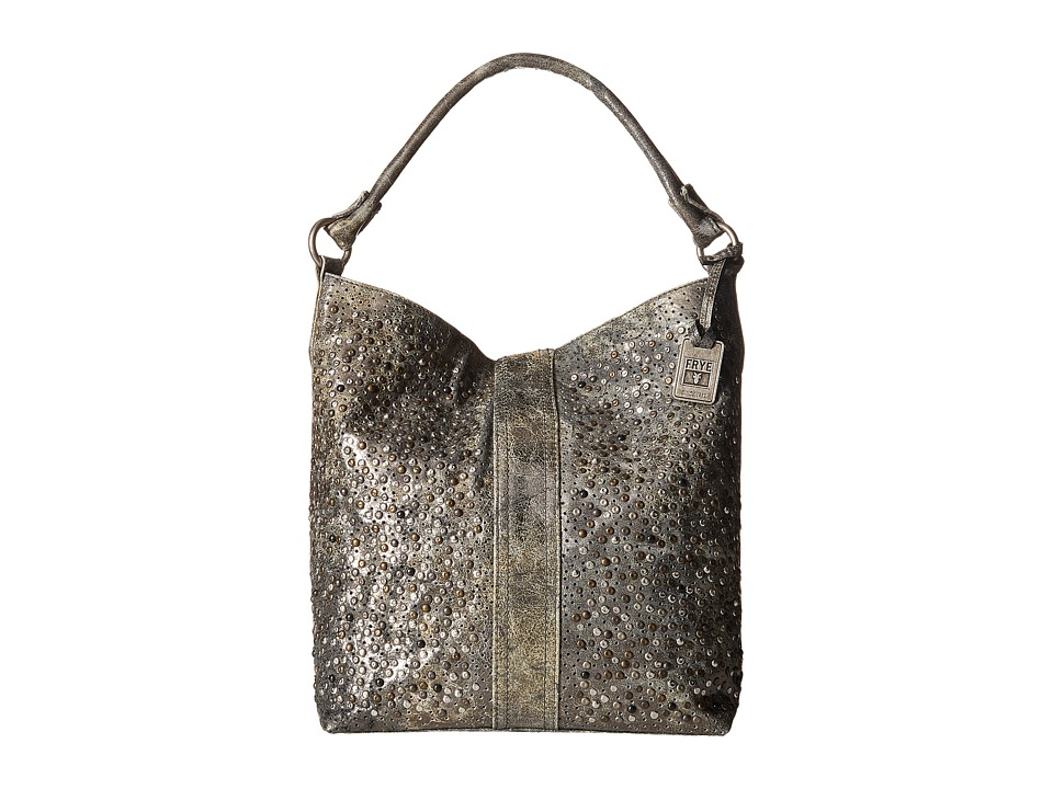 Frye - Deborah Studded Hobo (Charcoal Glazed Vintage Leather) Hobo Handbags