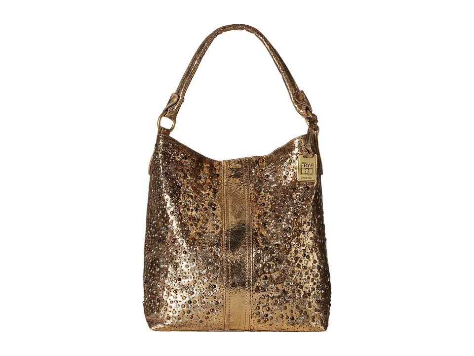 Frye - Deborah Studded Hobo (Gold Glazed Vintage Leather) Hobo Handbags