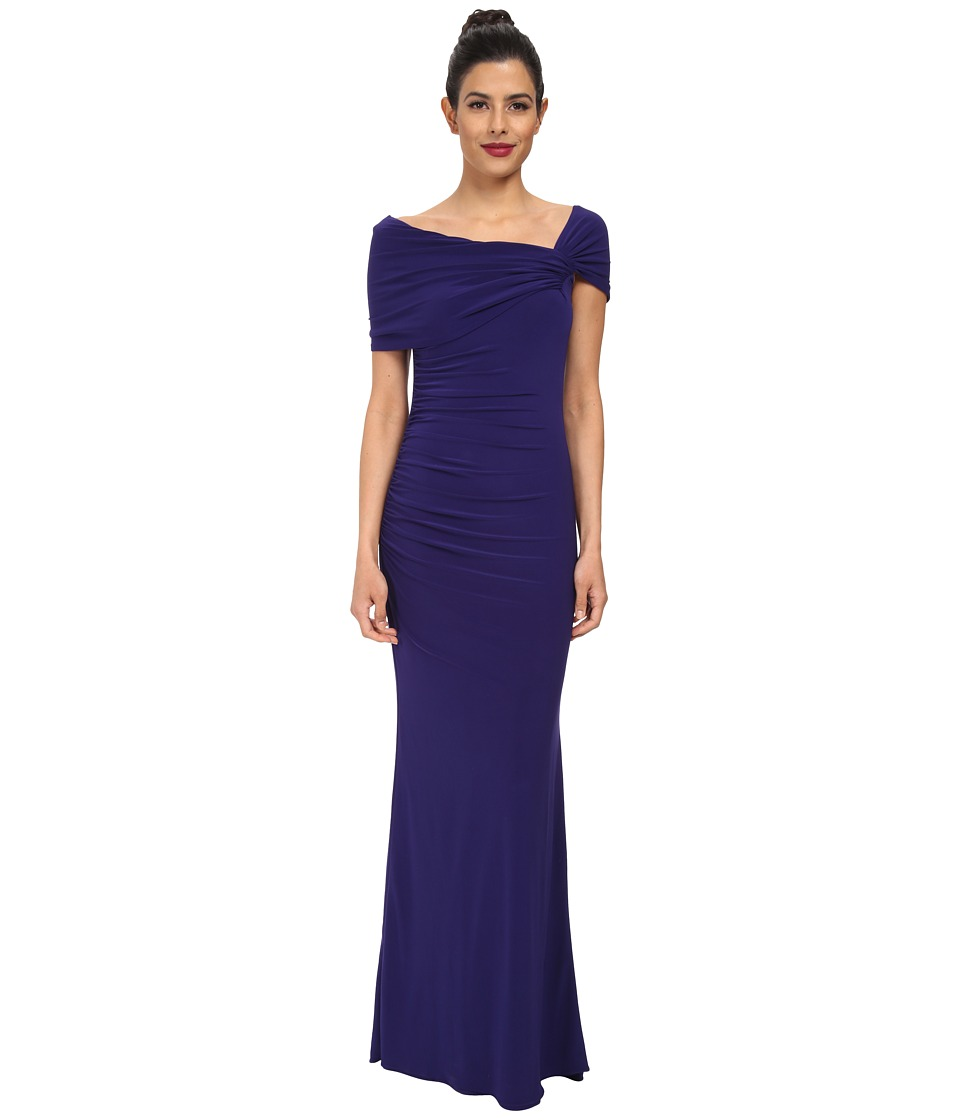 Badgley Mischka - Off The Shoulder Gown (Violet) Women's Dress
