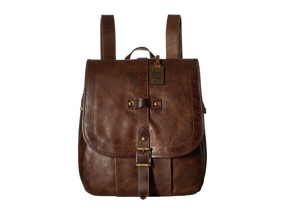 Frye - Parker Backpack (Cognac Antique Pull Up) Backpack Bags