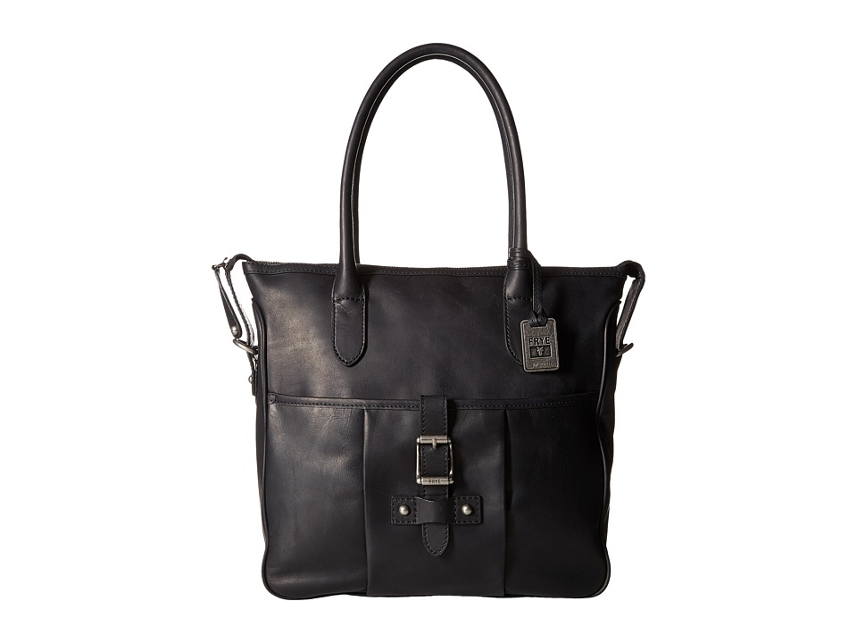 Frye - Parker Tote (Black Antique Pull Up) Tote Handbags