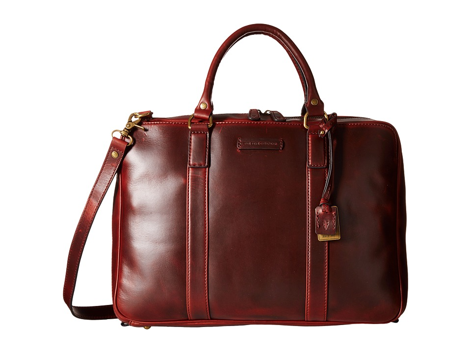 Frye - David Brief (Cinnamon Smooth Pull Up) Briefcase Bags