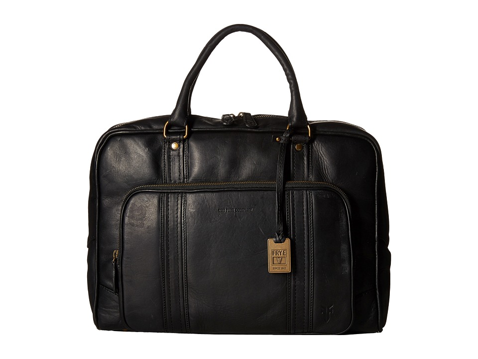 Frye - Richard Vintage Work Bag (Black Oiled Vintage Leather) Computer Bags
