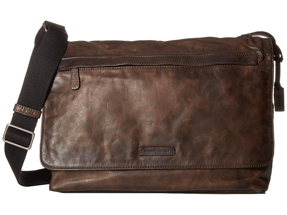 Frye - Tyler Messenger (Grey Vintage Pull Up) Messenger Bags