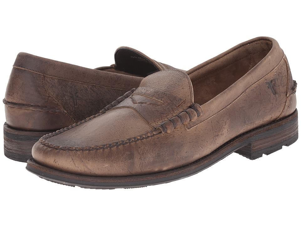 Frye Adam Penny (Sand Textured Full Grain) Men