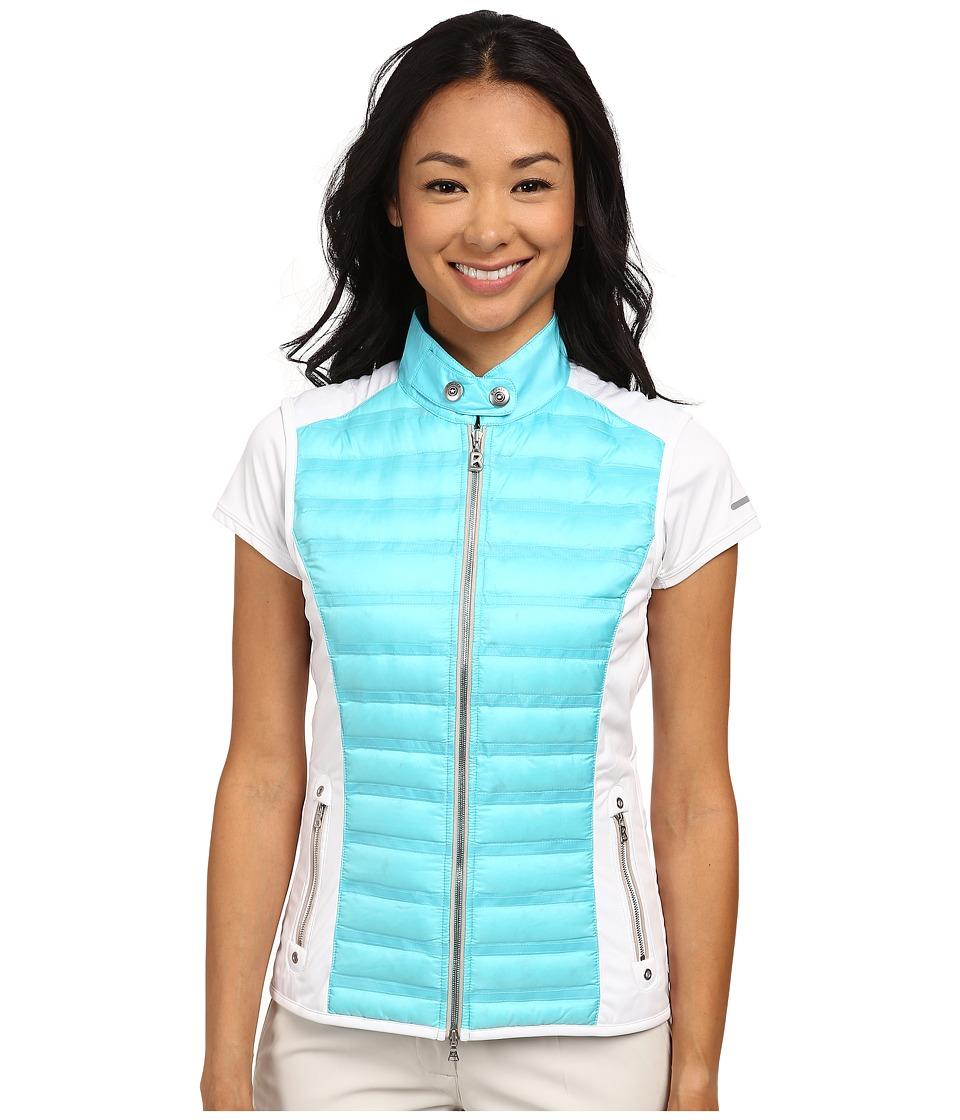 Bogner - Iska-D Vest (Turquoise Blue/White) Women